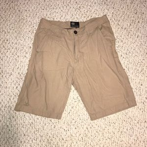beige micros light weight shorts